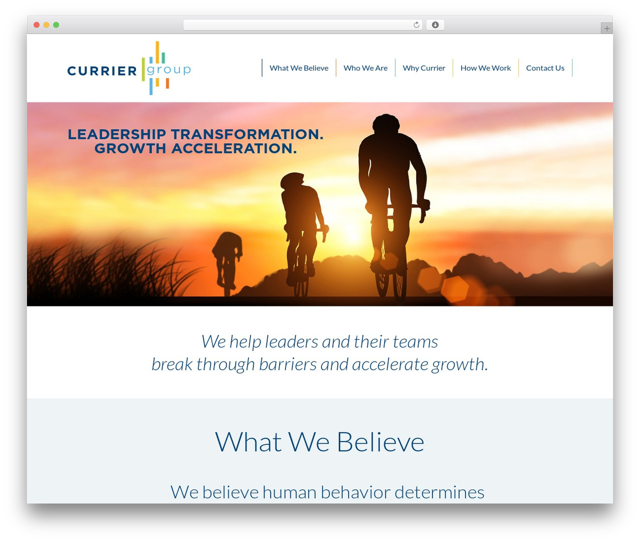 Currier Group Theme best WordPress template - curriergroup.com