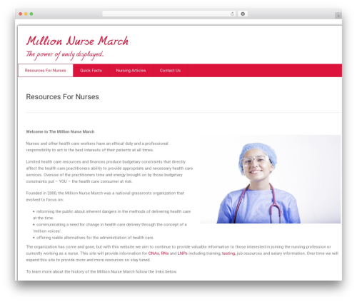 health-center-lite free WP theme - millionnursemarch.org