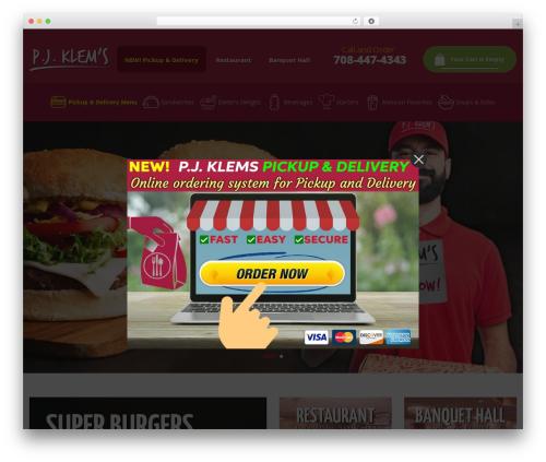 Pizzaro best restaurant WordPress theme - klemsbanquets.com