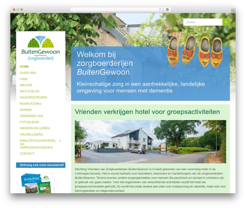 TownPress WordPress theme design - zorgboerderijbuitengewoon.nl