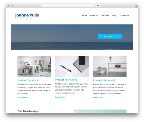 Ascension best WordPress template - joannepulis.com