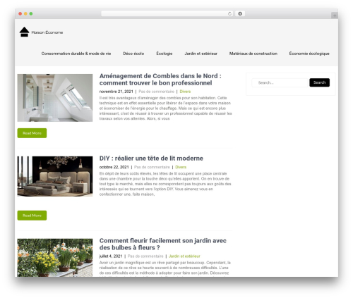 Eco Friendly Lite template WordPress - maisoneconome.fr
