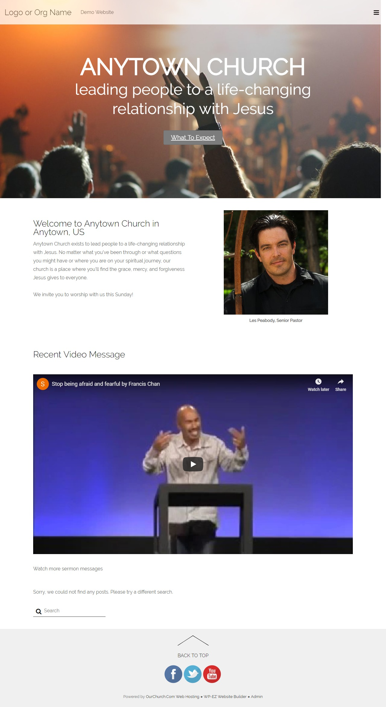 Modern Church WordPress ecommerce theme