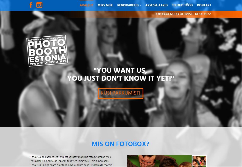 Photobooth Theme WordPress website template