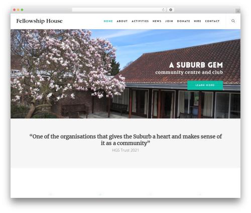 Salient template WordPress - fellowshiphouse.co.uk