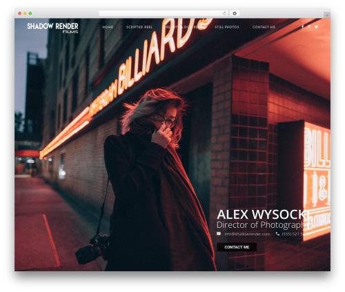 Whizz best WordPress template - shadowrender.com