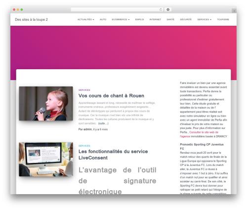 Hestia best free WordPress theme - sitoscopie.fr