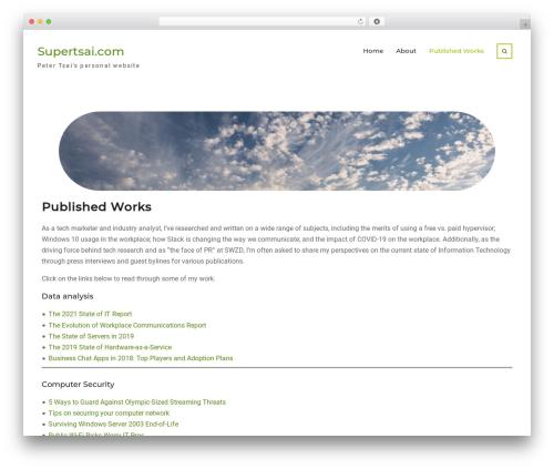 Nature Bliss theme WordPress free - supertsai.com