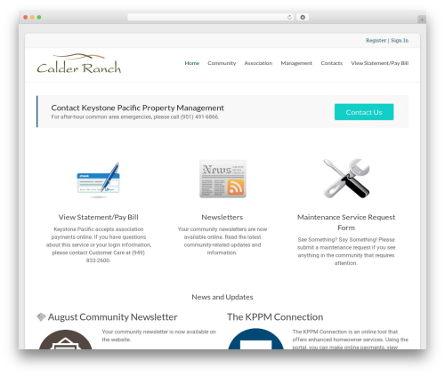 WordPress theme Spacious Pro - calderranch.org