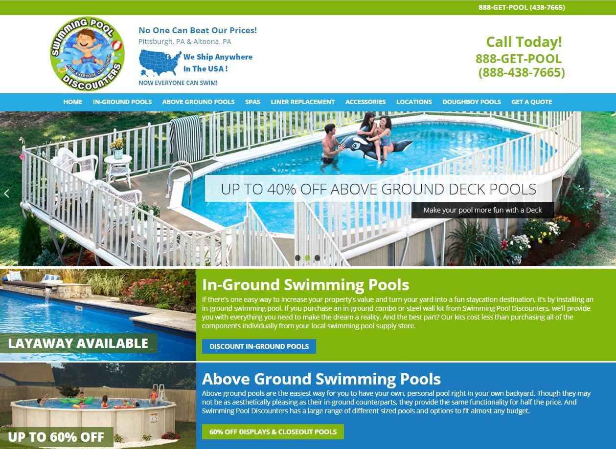 WordPress theme swimming pool discounters