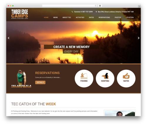 Coffee Pro WordPress theme - timberedgecamps.com