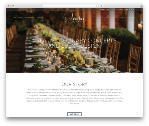 Flatsome WordPress wedding theme - morichescatering.com
