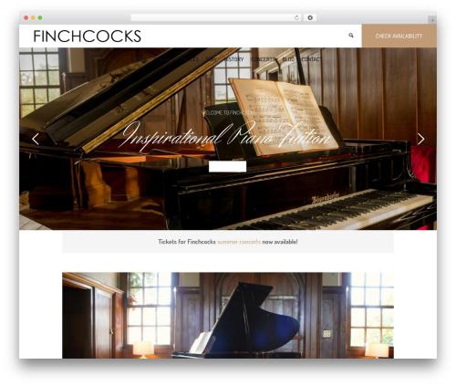 Hotel LUX WordPress hotel theme - finchcocks.com