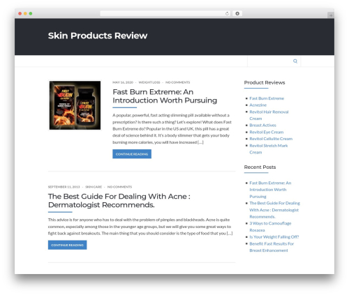 Socrates v5 WP theme - skin-products-review.com