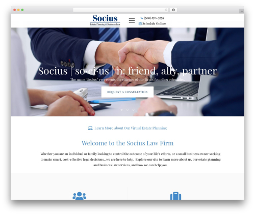 Wizelaw business WordPress theme - sociuslawfirm.com