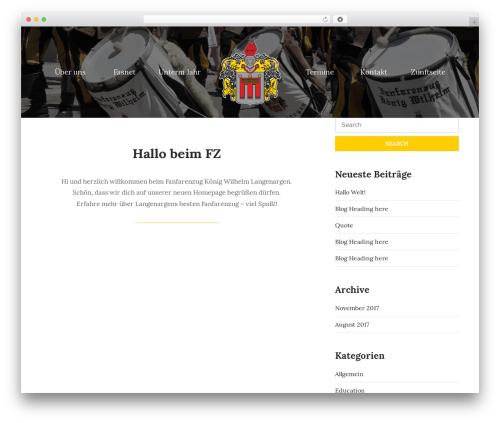 WordPress template UNISCO - fz-koenigwilhelm.de