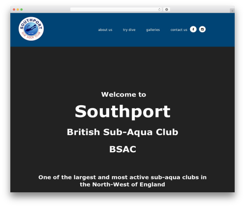 WP theme NavyBlue - southportbsac.co.uk