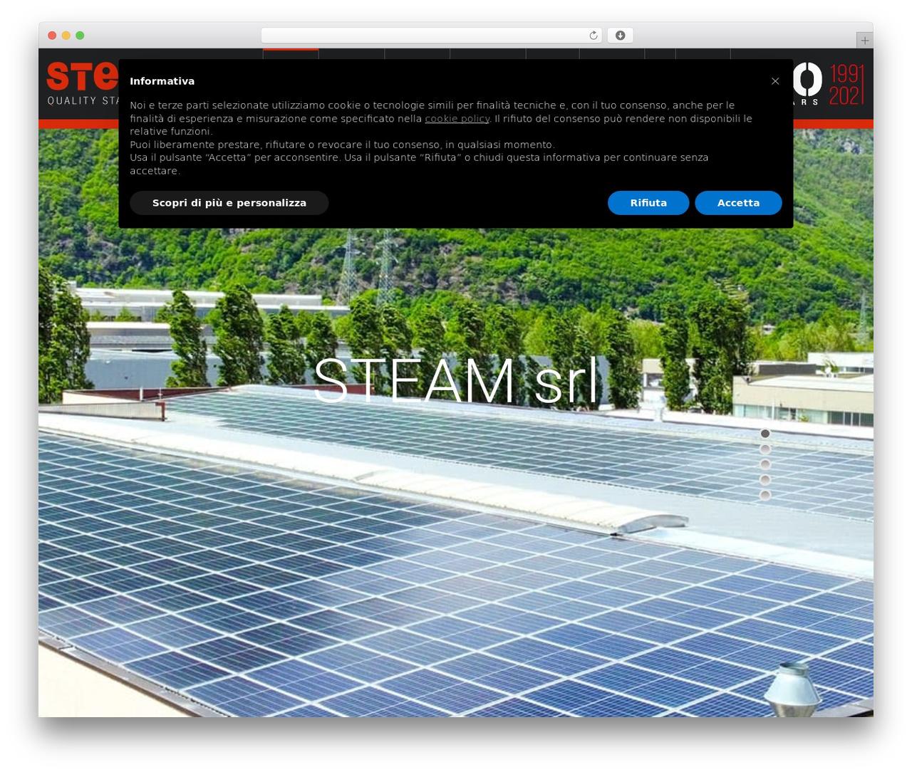 Salamat WordPress template for business - steamsrl.com/it
