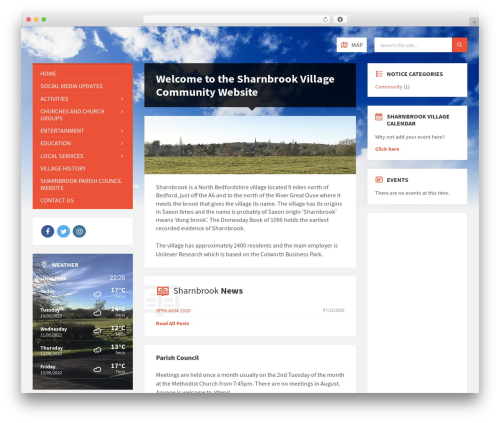 TownPress top WordPress theme - sharnbrookonline.co.uk