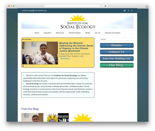 twentyseventeen Child WordPress theme - social-ecology.org