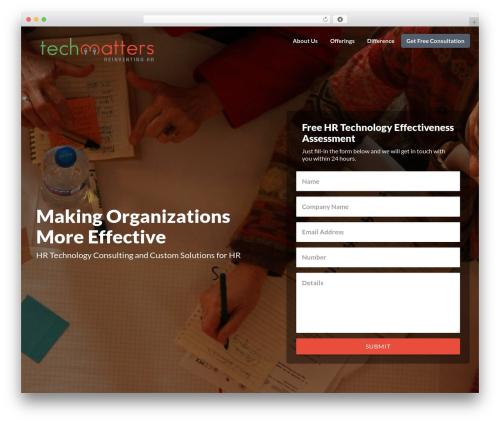 Getleads WordPress theme - techmatters.net