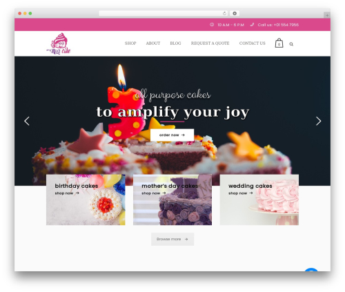Bazaar WordPress theme - mithocake.com