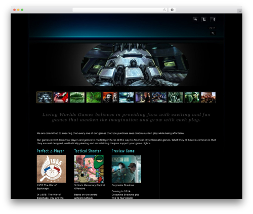 Prestige Dark vol.1 WordPress gaming theme - livingworldsgames.com