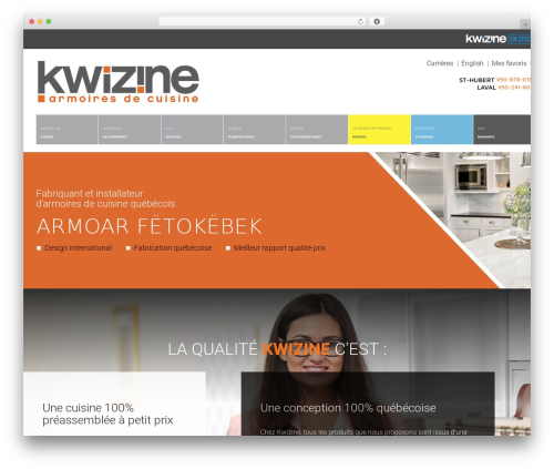 WordPress theme HomeShop - kwizine.ca