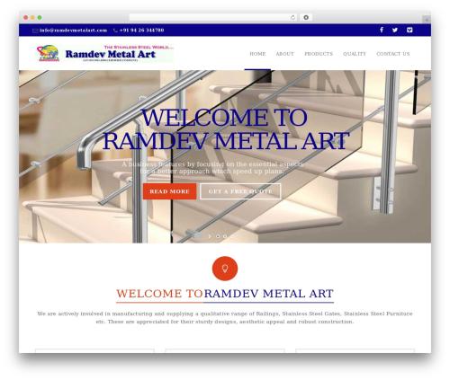 California theme WordPress - ramdevmetalart.com