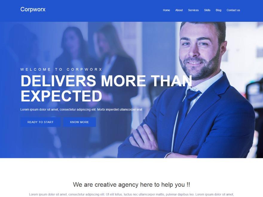 Corpworx WordPress template for business