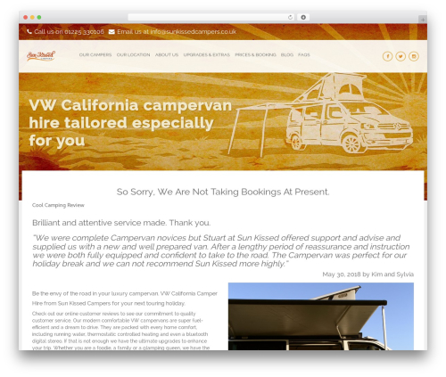 Holiday best WordPress template - sunkissedvwcampervanhire.co.uk