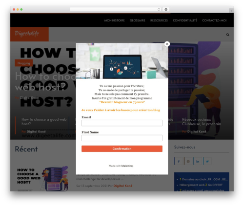SocialNow by MyThemeShop WordPress theme design - digeetalife.com