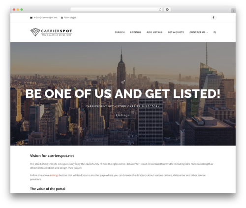 Total free WordPress theme - carrierspot.net