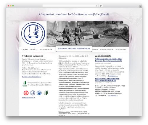 WordPress theme KSV - kuopionsotaveteraanit.fi