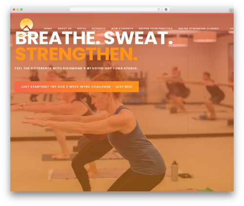 Ave WordPress page template - hothouseyogarva.com