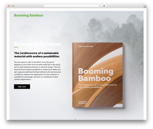 Best WordPress template Booker - boomingbamboo.com