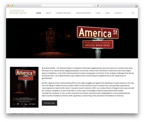 filmic best WordPress template - idrimora.com