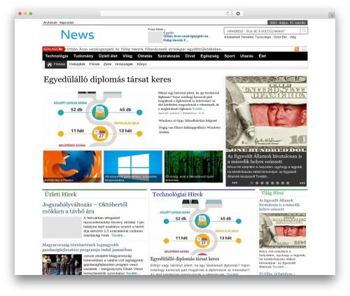 Online News Portal theme WordPress - orszagoshirek.hu