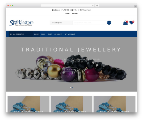 SparkleStore best WooCommerce theme - shoppingutsav.com