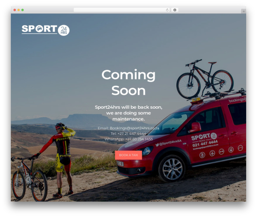 WordPress template Revolution - sport24hrs.co.za