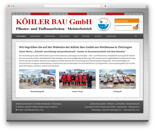 WordPress theme Catch Base Pro - koehlerbau.com