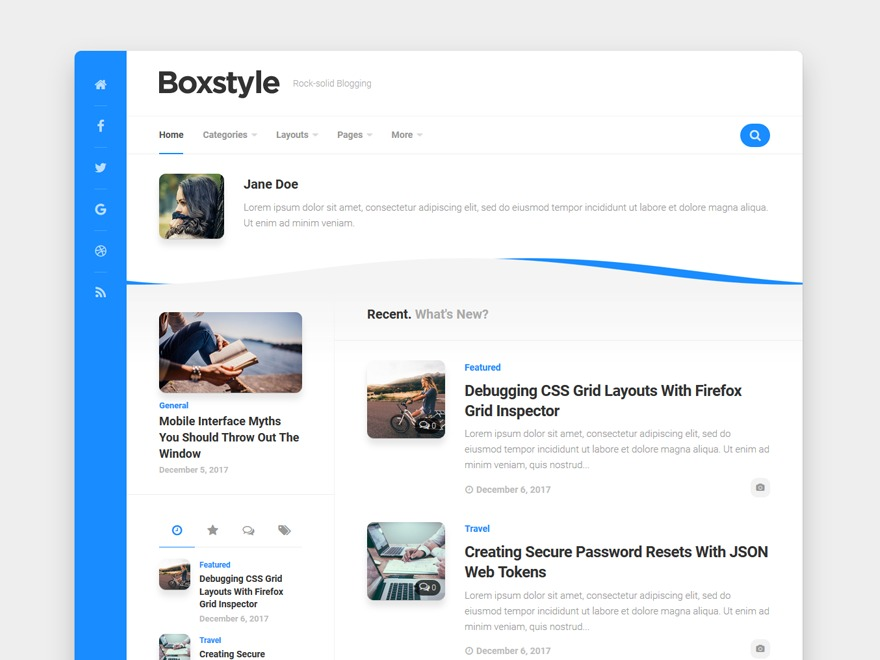 Boxstyle WordPress template for photographers