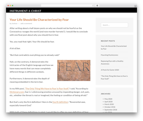 FastBlog free WordPress theme - instrument4christ.com