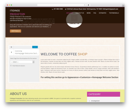 SKT Coffee WordPress template free - itidings.info