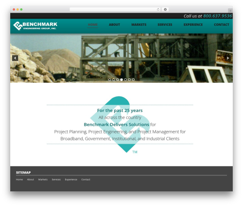 Benchmark WordPress theme - benchmarkeng.com