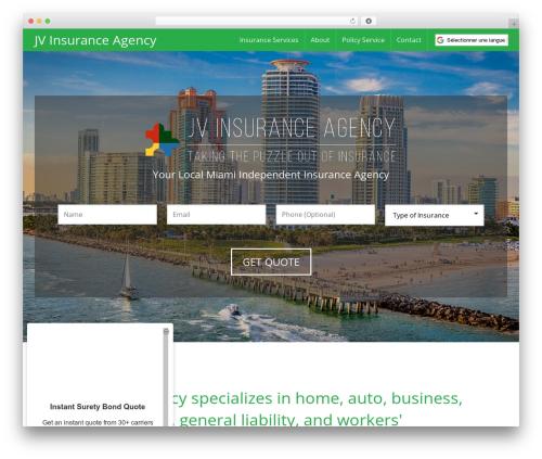 Best WordPress theme BrightFire Stellar - southdadeinsurance.com