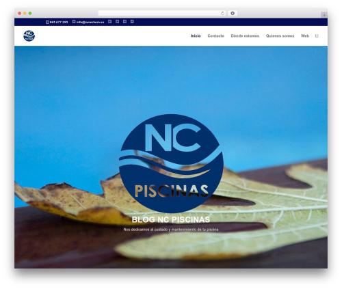 Divi theme WordPress - ncpiscinas.es