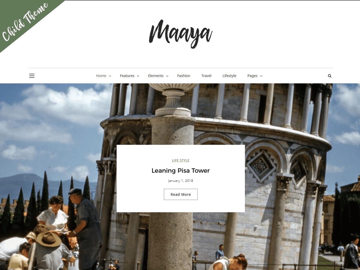 Template WordPress Maaya Child
