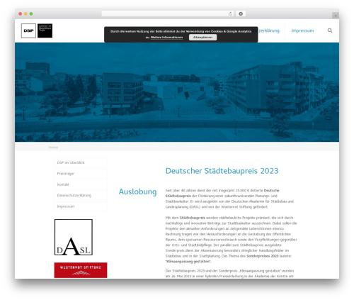 Theme WordPress Betheme - staedtebaupreis.de