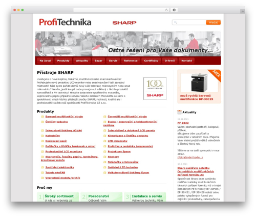 Twenty Ten WordPress theme - sharpolomouc.cz
